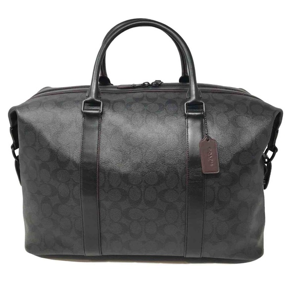 6d575382c4 Coach Men s Voyager Duffle Bag in Shadow Signature